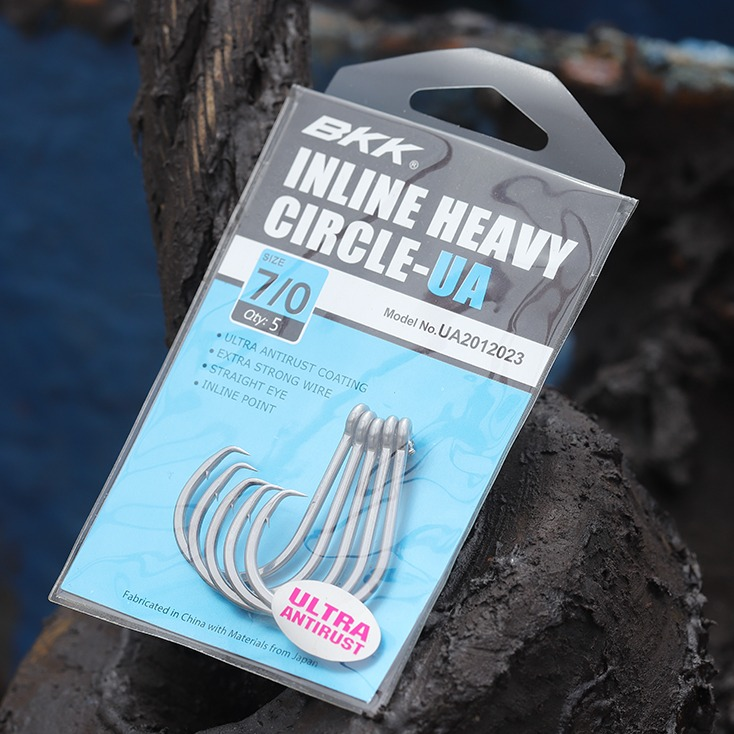 Medium heavy duty salt water hook, bait fishing circle hook, dead bait hook, bkk hook