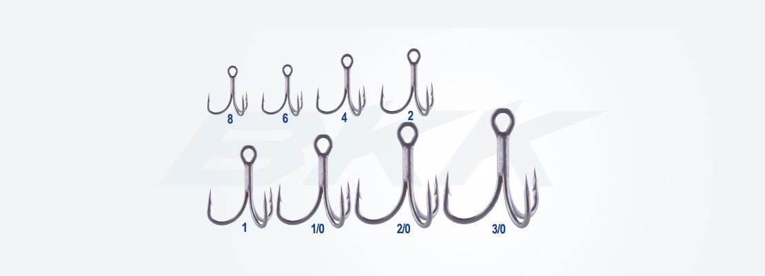 Medium wire treble hook, salt water applications hook, bkk hook