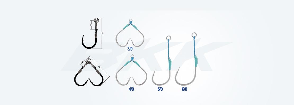 Medium jigging assist hook, saltwater fishing hook, pelagic fish hook, bkk hook